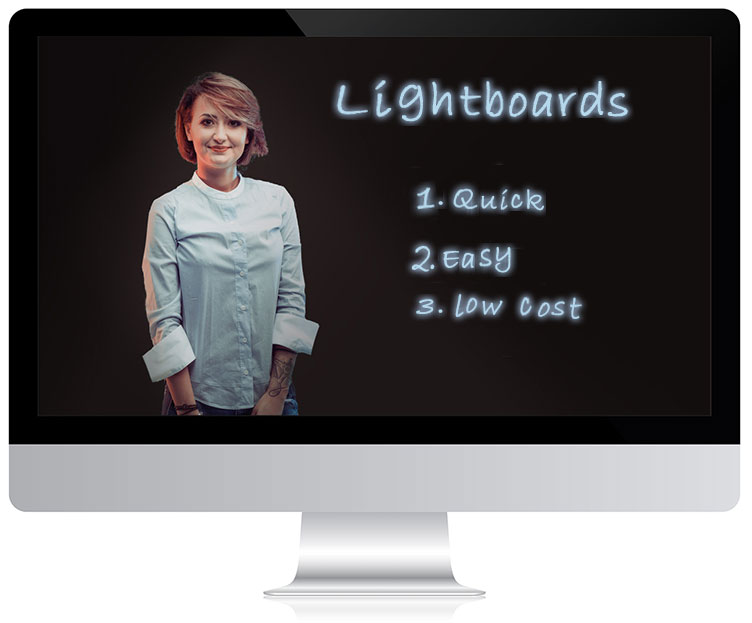 A person drawing on a lightboard