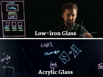 lightboard video glass demonstration